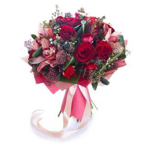 Czerwone róże bukiet M jak Miłość